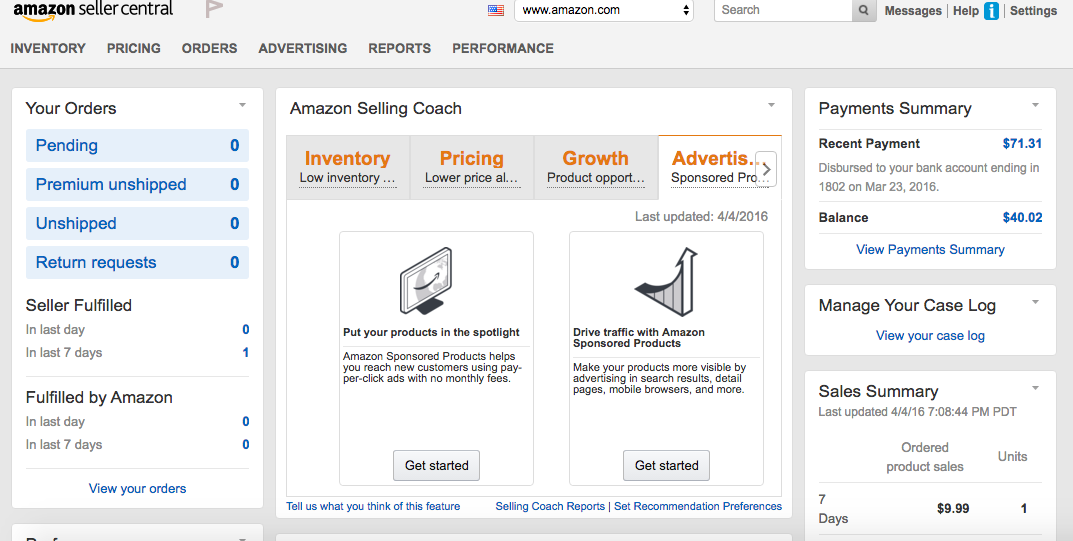 how to set up product on amazon