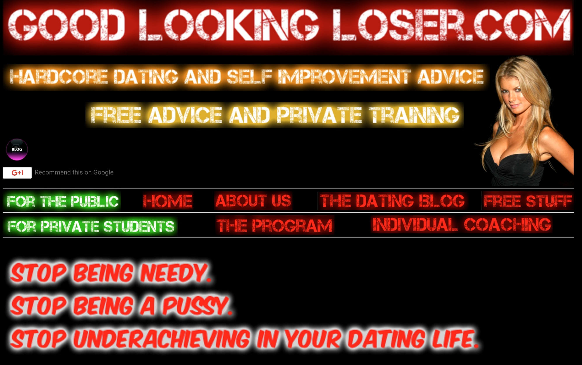 Good looking loser online dating