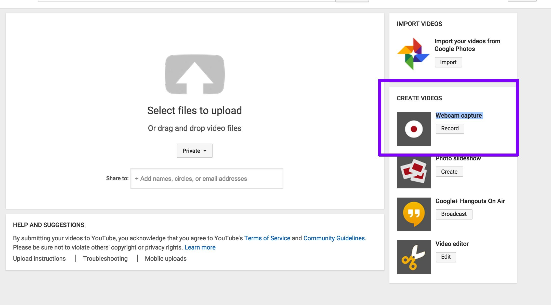 how to skip the YouTube upload process