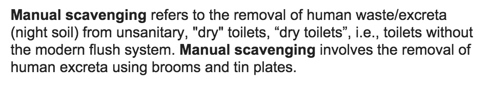 manual scavenging definition