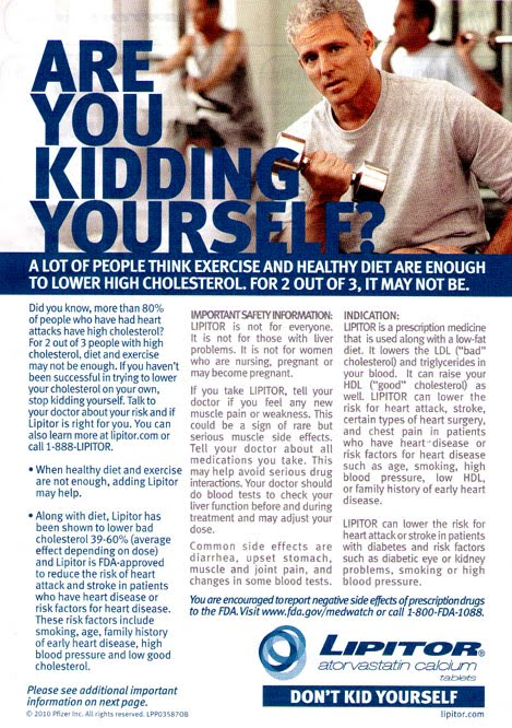 Lipitor No Exercise Ad
