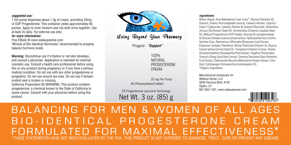 Progesterone Cream - Wake Up Sense