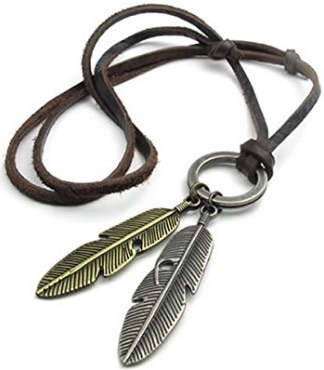 F 16 Feather Necklace