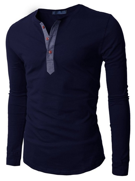 Navy Shirt Long