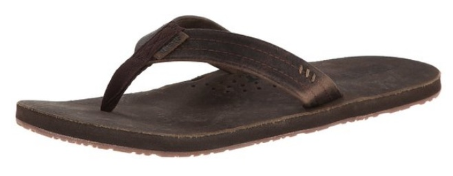 Dark brown flip flops