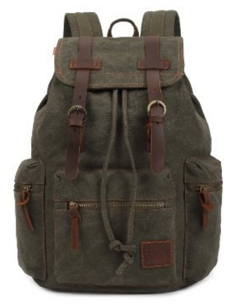 Army green backpack