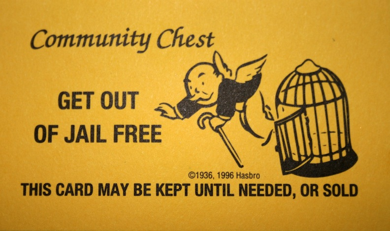 get out jail monopoly