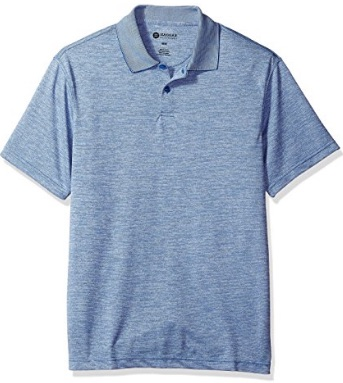 Mens Heather Blue Polo