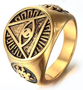 Triangle Eye of God Rings