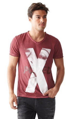 Red X Guess Tee