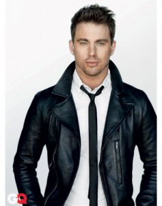 Leather jacket adds edge to a clean, dressy look. Skinny black tie gives modern, edgy elements to this look.