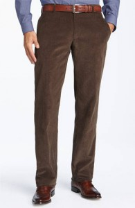OUT OF DATE- These slacks would not be bad if they were not corduroy and they were not brown. The fit and cut is actually quite good. Corduroy is out of style so keep it out of your closet.