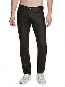 Fashionable black wet wash jeans. These show that you know what is current in fashion. Just don't over accessorize.