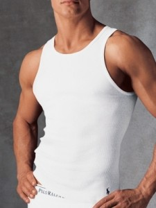 Ribbed tank. This is to go under shirts not to wear alone.