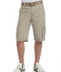 Khaki cargo shorts. These shorts go are very versatile during summer. You can throw on a cool graphic tee and some accessories for everyday wear. Or pair them with a white button down for a dressier look in hot weather.