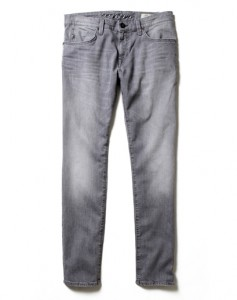 Gray jeans. Light gray wash straight leg. These are fashionable and look good with almost any color.