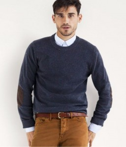 If this guy were in his 70's he would be dressed pretty well. But he's not, so this outfit ages him. The cardigan sweater paired with diarrhea colored corduroy pants don't give off a sexy vibe. The brown belt is also bad.