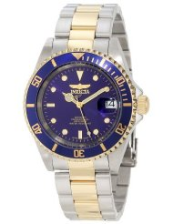 Pro Diver Two-Tone Automatic Invicta watch. This is an affordable, classy Rolex inspired watch that won't go out of style. The pop of blue gives an interesting touch, as well as the two-tone band. But the colors are neutral enough that you could wear it with a lot of colors.
