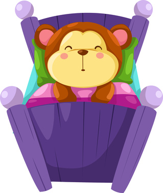Cartoon bear sleeping