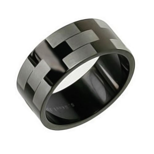 Mens checkered ring