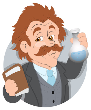 Scientist - Vector Character Illustration