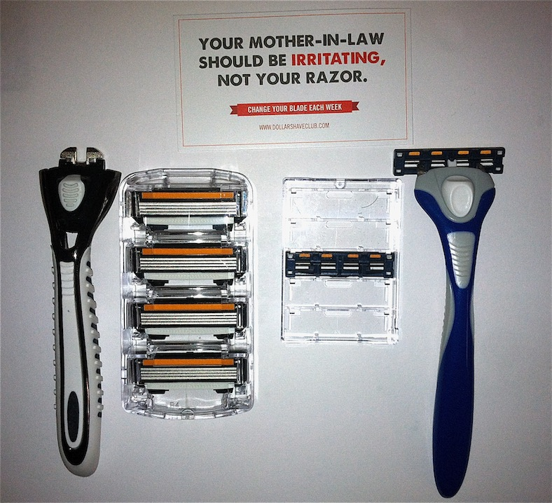picture of the razors from Dollar Shave Club