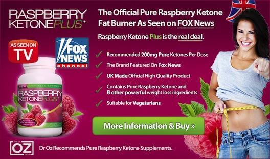 Raspberry keytones ad