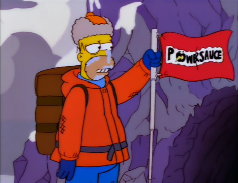 Homer Simpson once climbed a mountain and credited