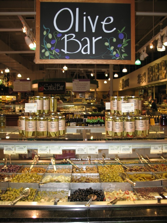 Olive Bar at Grocery Store