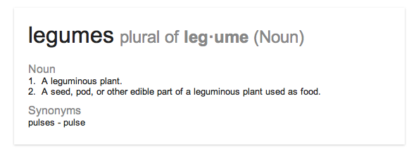 definition of legume