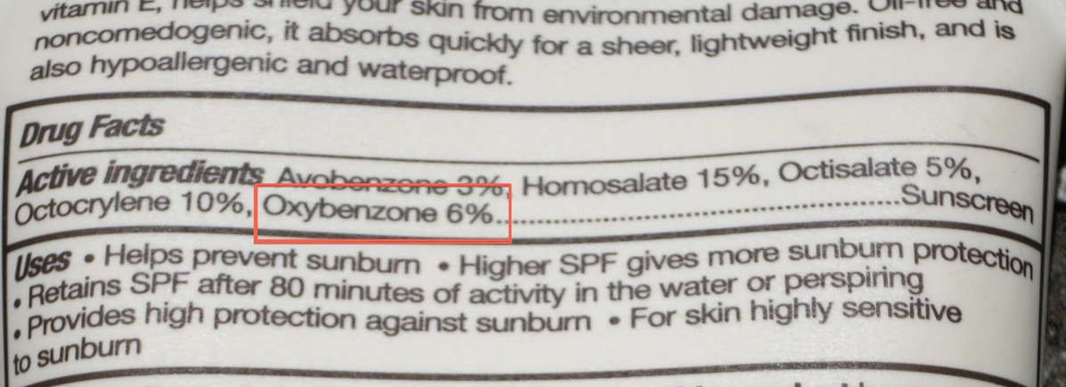 Oxybenzone-On-Label