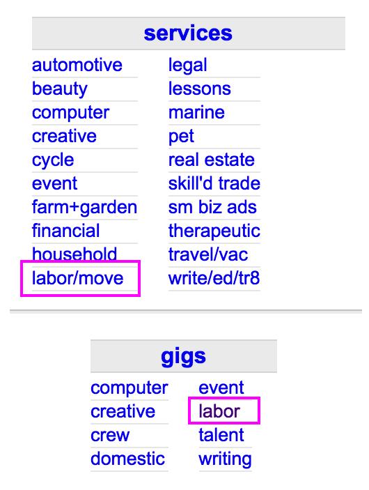 Labor Jobs On Craigslist