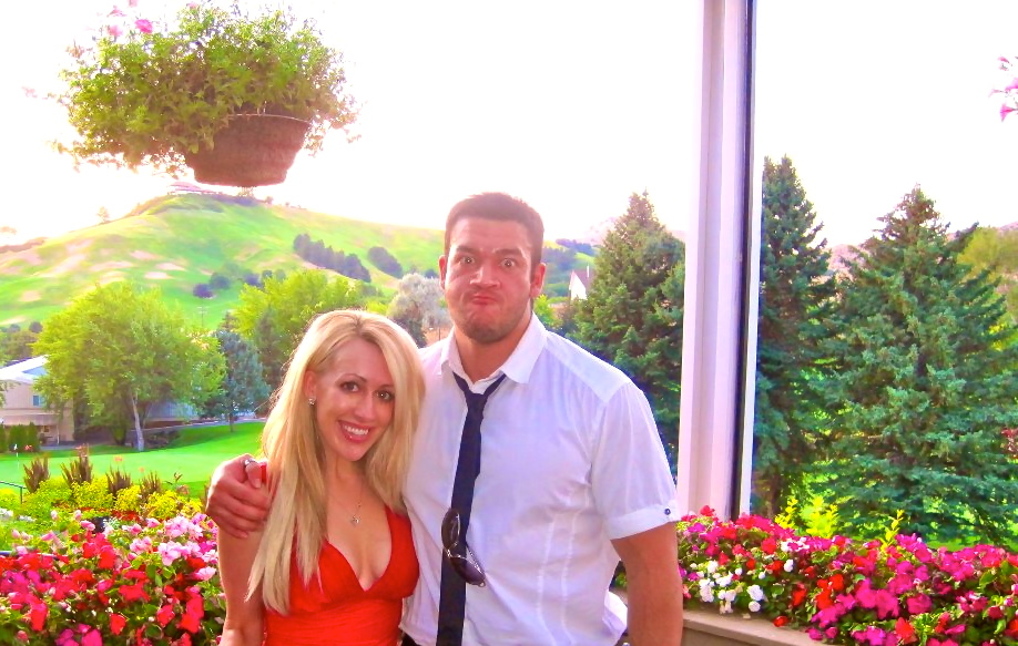 in boise at Ashleys and Kyles wedding