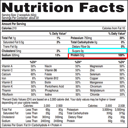 isopure zero carb protein nutrition facts