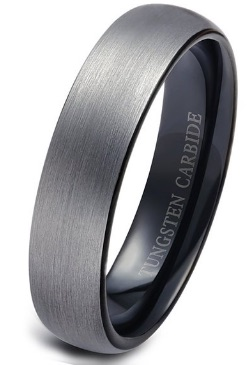 F 16 Mens Brushed Metal Ring