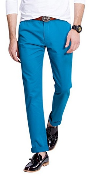 Blue Spring Pants Rolled