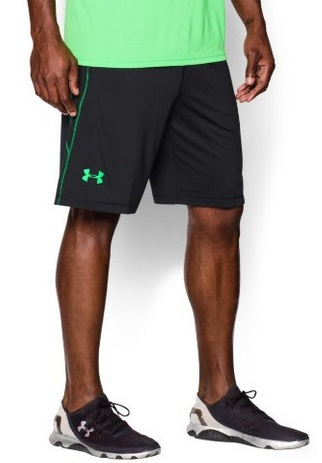 Green work out shorts