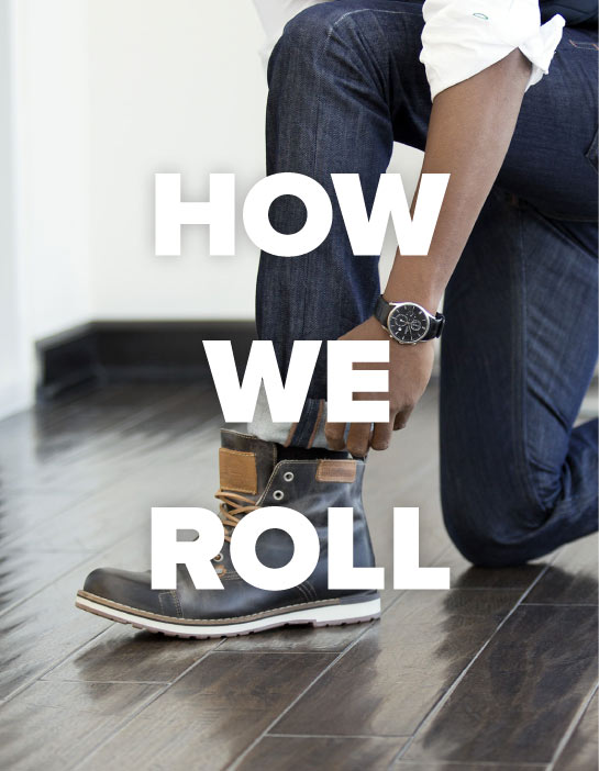 How we roll jeans up