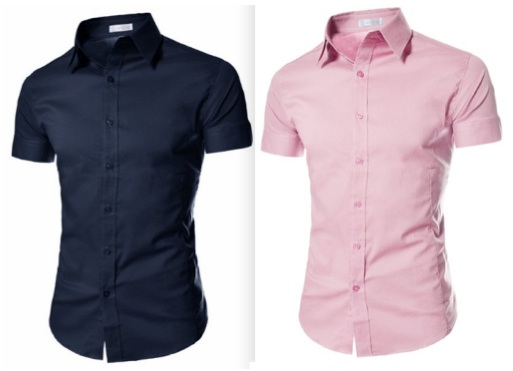 Pink and Blue Shirts