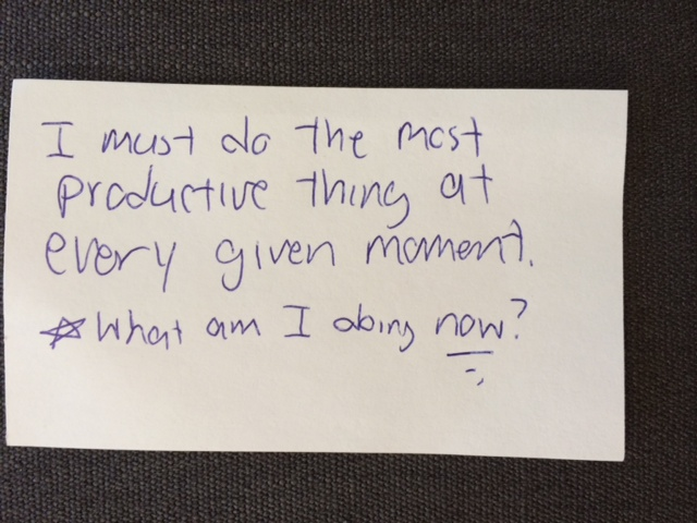 productivity notecard