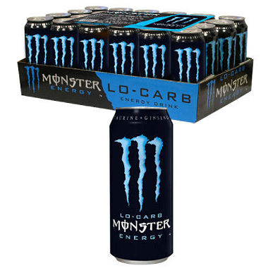 Monster Lo Carb Energy Drink Can