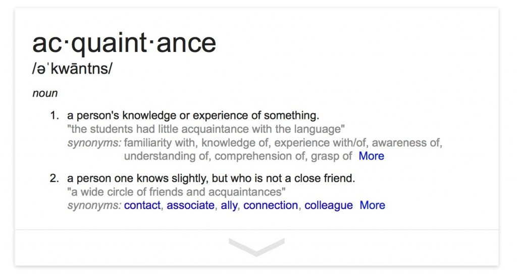 acquaintance-defined
